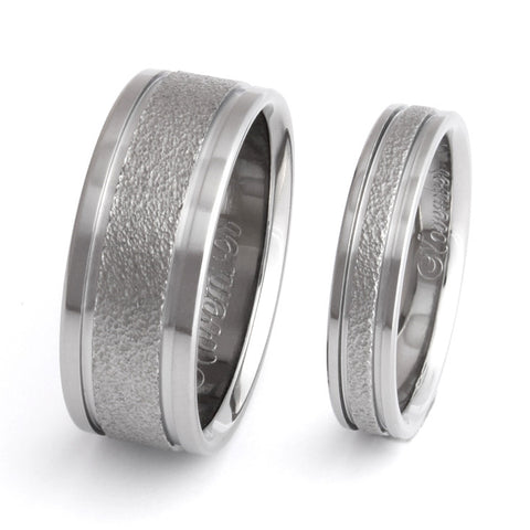 frost titanium wedding ring set Titanium Wedding and Engagement Rings