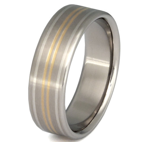 summit two tone ring m10 Titanium Wedding and Engagement Rings