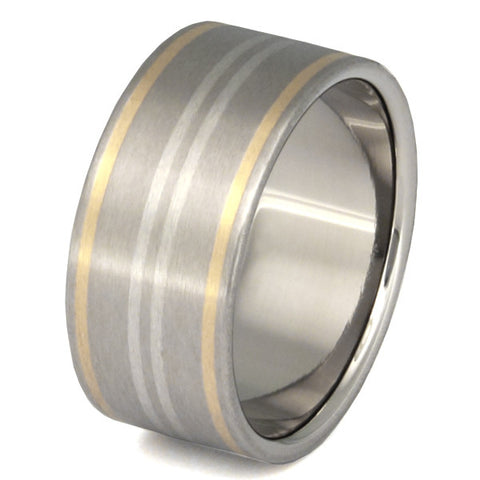 horizon two tone ring m2 Titanium Wedding and Engagement Rings