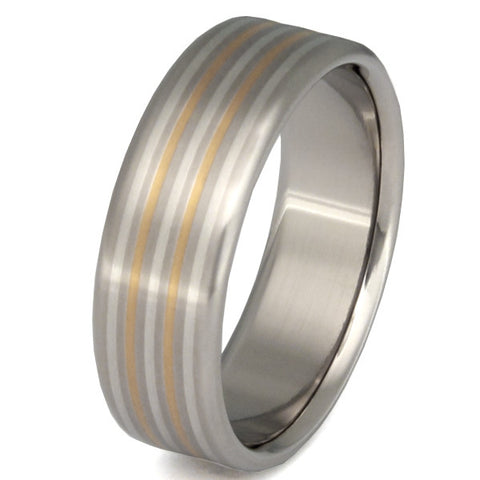 illumination two tone ring m3 Titanium Wedding and Engagement Rings