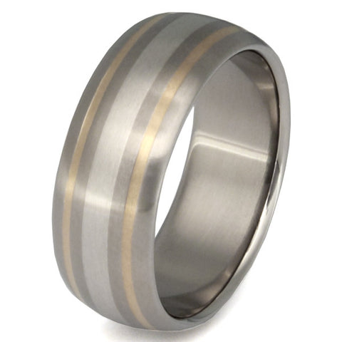 freedom two tone ring m9 Titanium Wedding and Engagement Rings