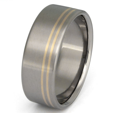 titanium gold ring g2 Titanium Wedding and Engagement Rings