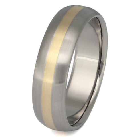 titanium wedding ring with gold inlay g3 Titanium Wedding and Engagement Rings