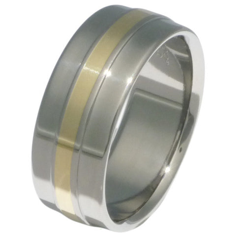 titanium wedding ring with gold inlay g5 Titanium Wedding and Engagement Rings