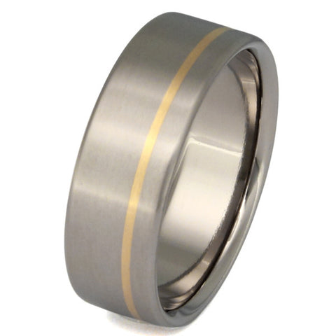 titanium wedding ring with gold inlay g6 Titanium Wedding and Engagement Rings