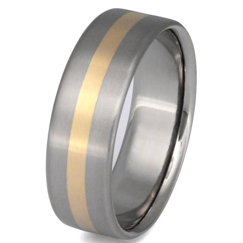 titanium wedding ring with gold inlay g7 Titanium Wedding and Engagement Rings