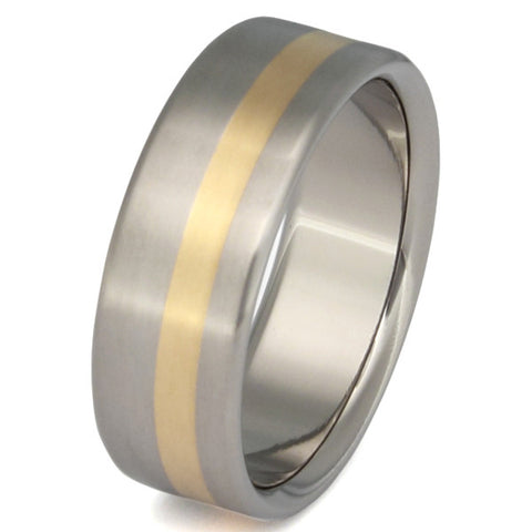 titanium wedding ring with gold inlay g9 Titanium Wedding and Engagement Rings