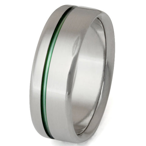 titanium ring go green n35 Titanium Wedding and Engagement Rings