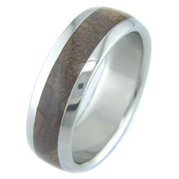 koa Titanium Wedding and Engagement Rings