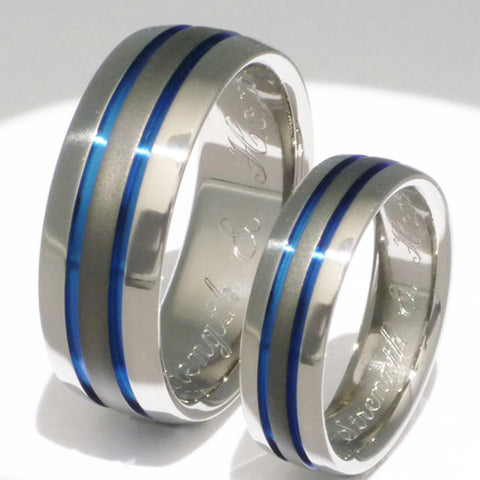 matching sable titanium ring set stsa11 Titanium Wedding and Engagement Rings