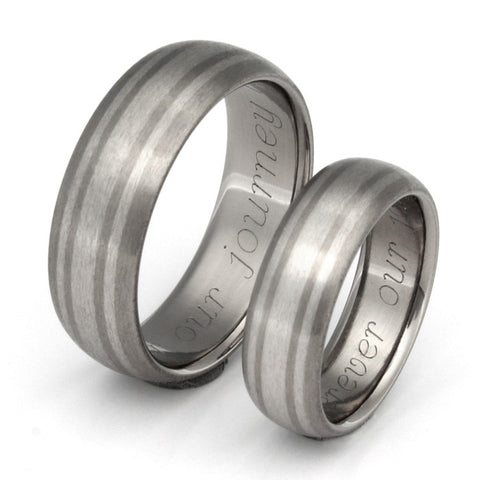 matching platinum titanium wedding band set stp20 Titanium Wedding and Engagement Rings