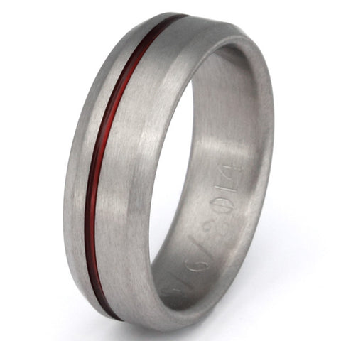 thin red line titanium ring r25 Titanium Wedding and Engagement Rings