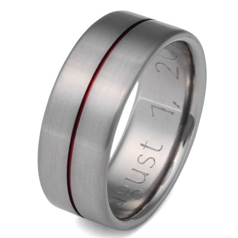 red titanium ring r34 Titanium Wedding and Engagement Rings
