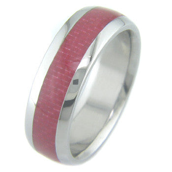 Boone Red Carbon Fiber Titanium Ring