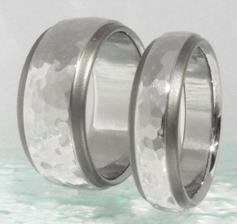 matching sable titanium wedding band set stsa25 Titanium Wedding and Engagement Rings