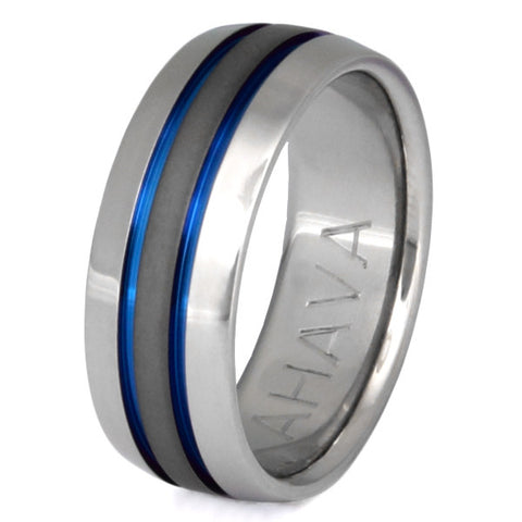 sable titanium ring sa11 Titanium Wedding and Engagement Rings