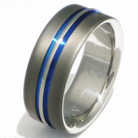 sable titanium ring sa20 Titanium Wedding and Engagement Rings