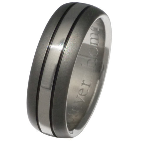 sable titanium ring sa4 Titanium Wedding and Engagement Rings