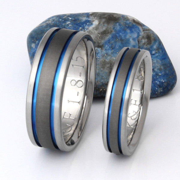 Matching Titanium Wedding Band Set Stsa12 Titanium