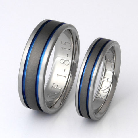 matching titanium wedding band set stsa12 Titanium Wedding and Engagement Rings