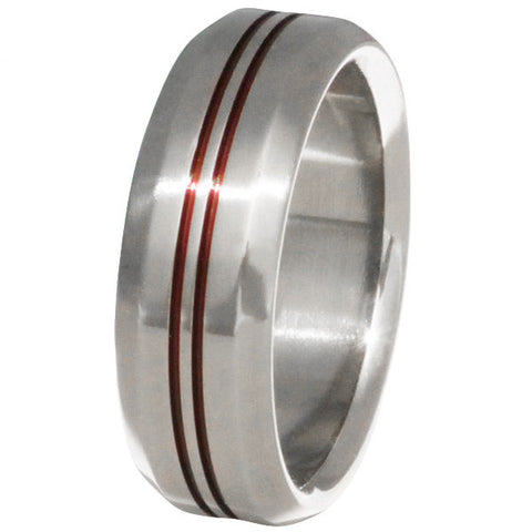 thin red line titanium ring r26 Titanium Wedding and Engagement Rings
