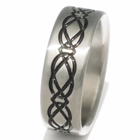 black titanium irish celtic promise ring ck3 Titanium Wedding and Engagement Rings