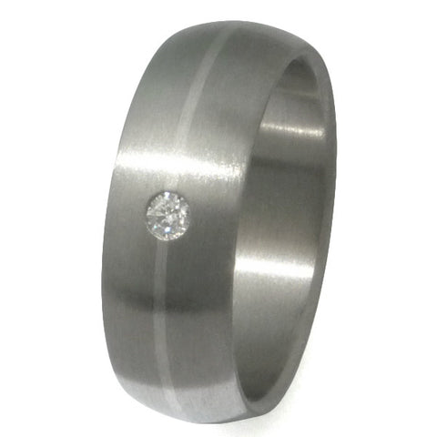 titanium wedding ring with platinum and diamond s64 Titanium Wedding and Engagement Rings