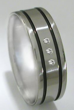 titanium diamond rings s17 Titanium Wedding and Engagement Rings