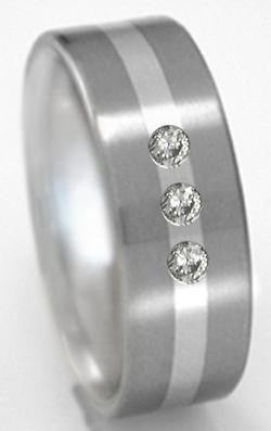 titanium diamond rings s40 Titanium Wedding and Engagement Rings