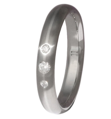 titanium engagement ring with platinum inlay e7 Titanium Wedding and Engagement Rings