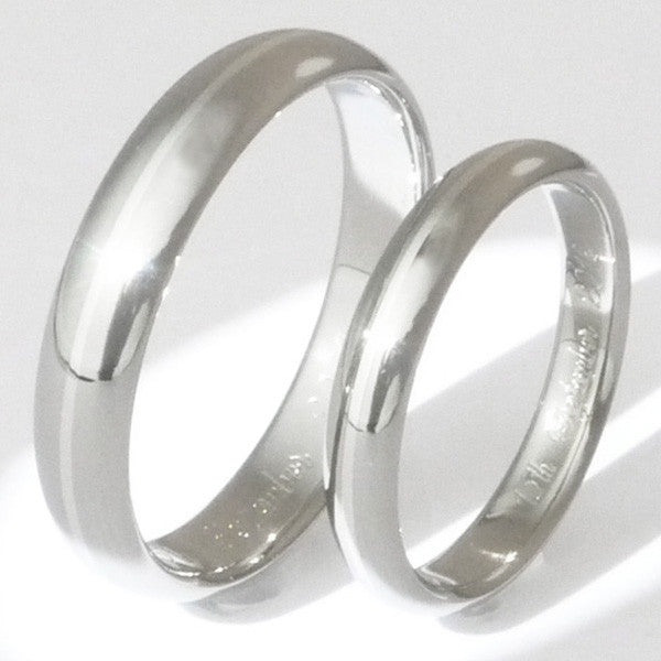 Matching Titanium Platinum Wedding Band Set ste4 Titanium Rings