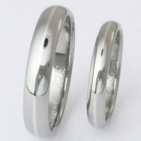 matching titanium wedding band set ste4 Titanium Wedding and Engagement Rings