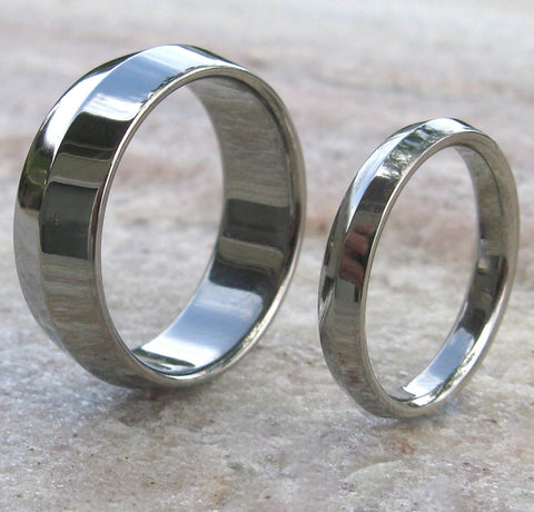 matching titanium wedding band set stn7 Titanium Wedding and Engagement Rings