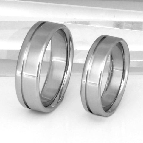 matching titanium wedding band set stn2 Titanium Wedding and Engagement Rings