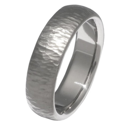 titanium ring ripple hammer n14 Titanium Wedding and Engagement Rings