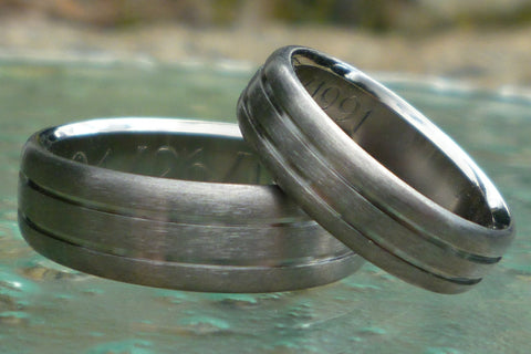 matching titanium wedding band set stn19 Titanium Wedding and Engagement Rings