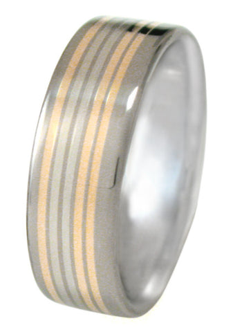 celebration two tone ring m6 Titanium Wedding and Engagement Rings