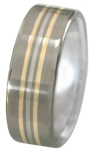 gold and platinum titanium ring spirit m7 Titanium Wedding and Engagement Rings