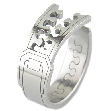 Boone Titanium Ring - Zipper