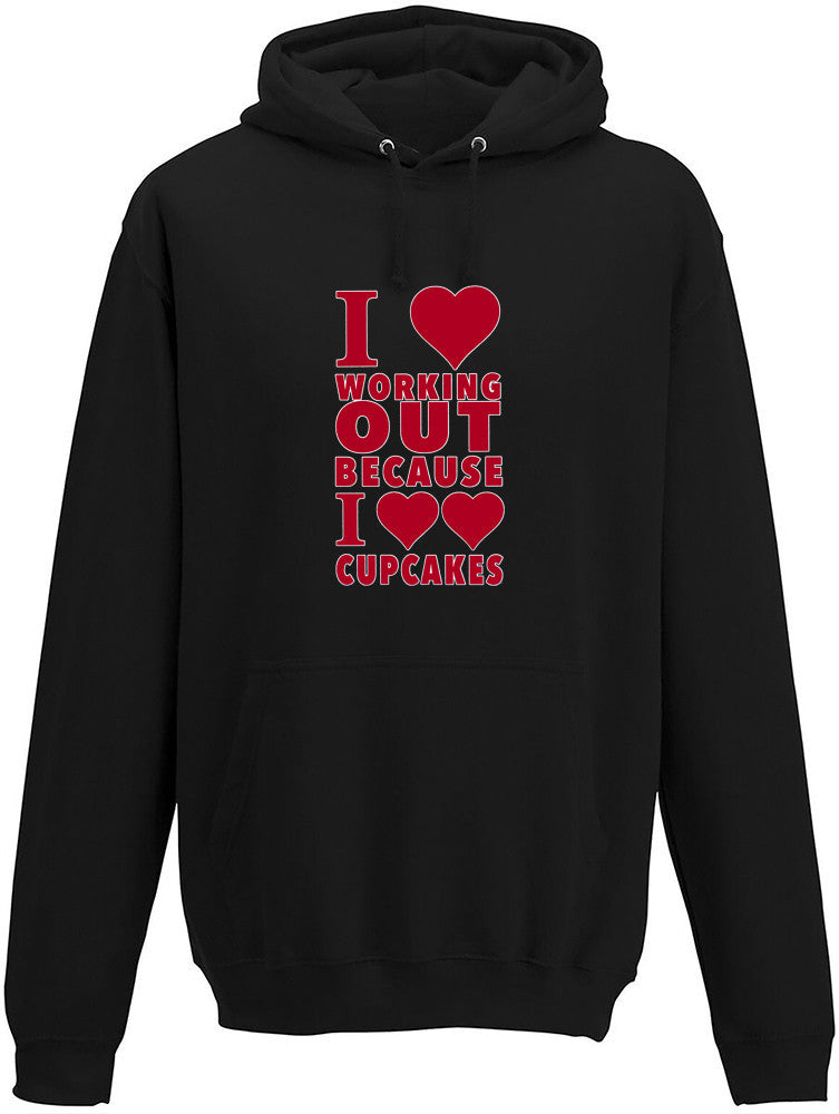 Love Working Out Adults Hoodie