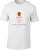 Keep Calm and Eat Chocolate Mens T-Shirt