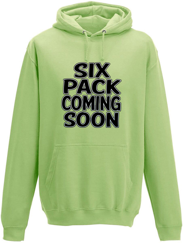 Six pack coming soon Adults Hoodie