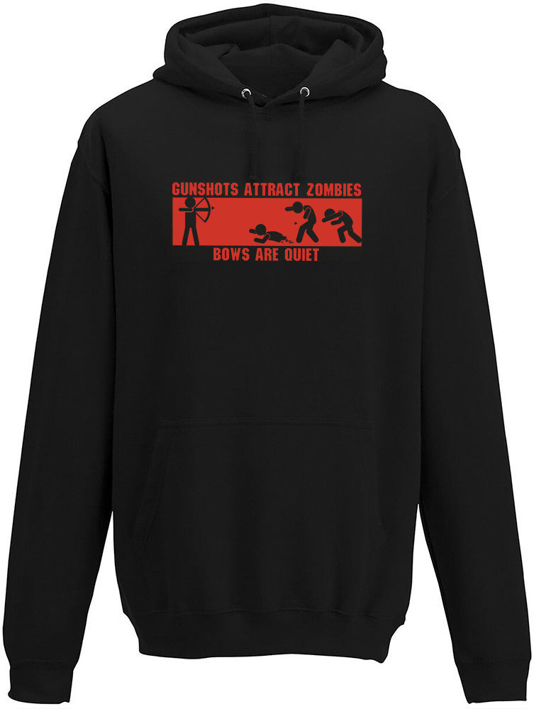 Gunshots attract zombies Adults Hoodie