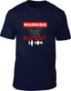 Warning Do Not Feed The Zombies Mens T-Shirt