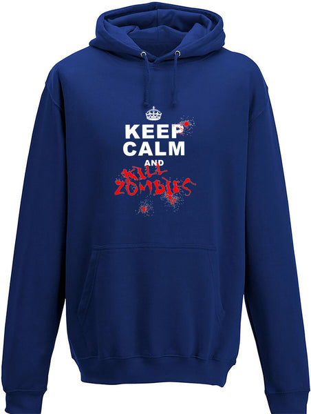 Keep Calm and Kill Zombies Adults Hoodie