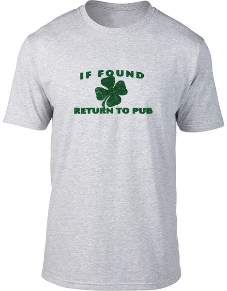 If found return to pub Mens T-Shirt