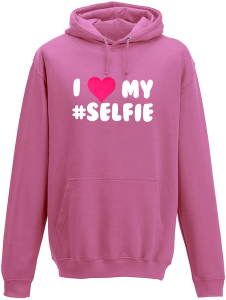 I love my #selfie Adults Hoodie