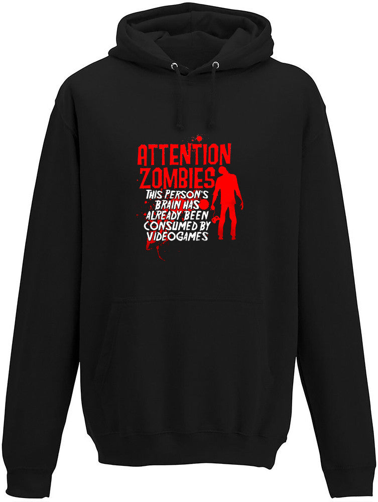 Attention Zombies Adults Hoodie