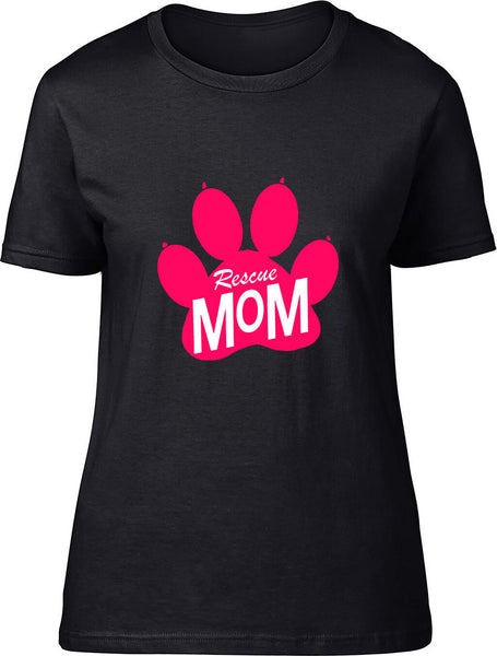 Rescue Mom Ladies T-Shirt