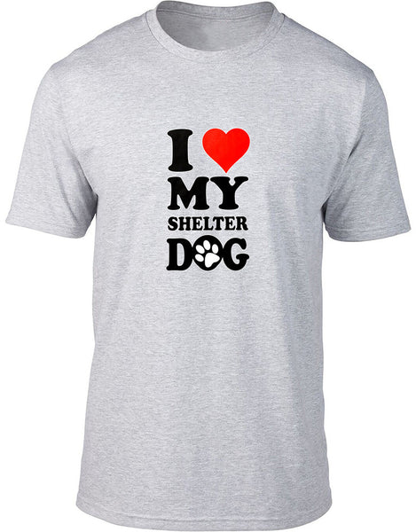 I love my shelter dog Mens T-Shirt